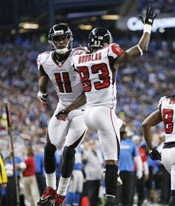 Calvin Johnson a peut-être les records, mais c'est Atlanta qui aura la première place de la NFC.