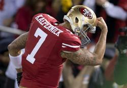 Les Falcons vont devoir essayer de contenir l'explosif Colin Kaepernick.