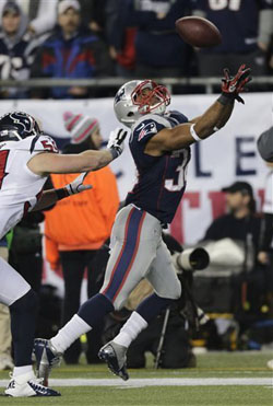 Shane Vereen a été un des hommes forts de la soirée avec 126 yards gagnés et 3 touchdowns.