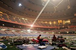Le football était bien loin lors de l'ouragan Katrina en 2005.