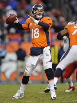 Peyton Manning est le seul qui a réussi à faire un peu d'ombre à Peterson.