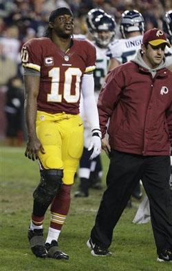 Robert Griffin a donné le sentiment de lutter toute la soirée avec son genou. Un poids pour l'attaque des Redskins?