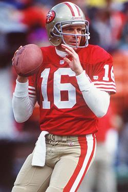 Avec 4 bagues et un sang froid légendaire dans les grands matches, Joe Montana est peut-être le plus grand quarterback de l'histoire.