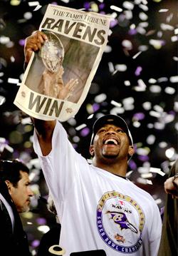 Présent depuis le premier jour de la franchise à Baltimore, Ray Lewis est le visage des Ravens.