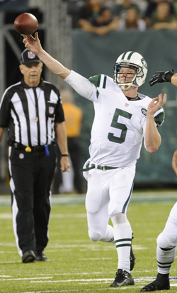 Matt Simms a bien profité de l'absence des trois premiers quarterbacks de New York.