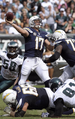 Malgré sa technique de lancer bizarre, Philips Rivers en est déjà à 7 touchdowns