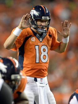 Peyton Manning aurait voulu aller jusqu'à 10 touchdowns, apparemment...