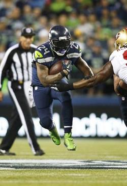Avec 3 touchdowns, Marshawn Lynch a été un des héros de la soirée