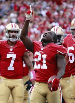 Frank Gore a assuré l'essentiel de l'attaque des 49ers.