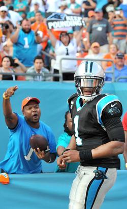 Malgré un début de match difficile, Cam Newton a réussi à porter Carolina vers une nouvelle victoire.