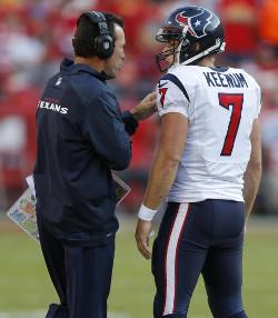 Case Keenum doit apprendre le métier vite et bien. Il est en mission de sauvetage pour le compte de Houston, qui doivent aller en playoff pour ne pas gâcher un bel effectif...