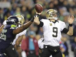 La défense de Seattle a mis la main (et le couvercle) sur Drew Brees.