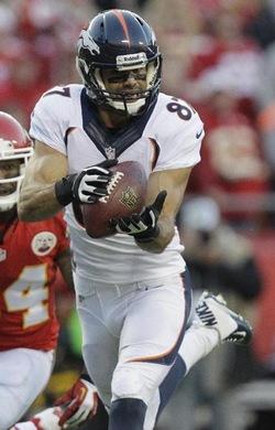 Le receveur des Broncos a été omniprésent ce soir avec 4 touchdowns marqués