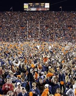 C'était la fête parmi les fans d'Auburn après la rencontre