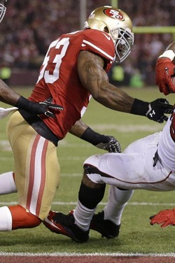 NaVorro Bowman a été l'homme du match avec son interception salvatrice