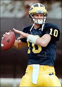 Tom Brady, quarterback des Michigan Wolverines