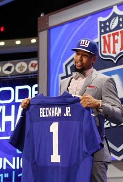 Pour les Giants, ça sera un receveur, avec Odell Beckham.