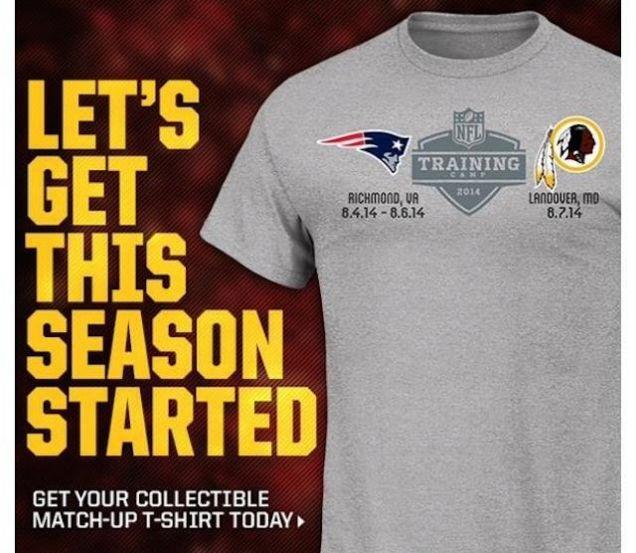 Tshirt-présaison-Pats-Redskins