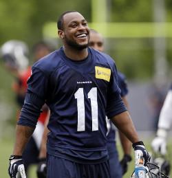 Percy Harvin souriant et en pleine forme en 2014, la clé dun doublé des Seahawks?