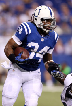 Le fumble de Trent Richardson a fait très mal aux Colts.