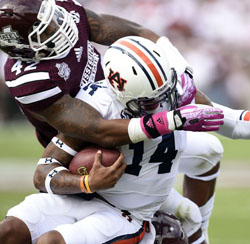 Nick Marshall et Auburn n'ont rien pu faire face à Mississippi State.