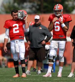 Malgré la hype autour de Johnny Manziel, Brian Hoyer a été capable de s'approprier le poste de quarterback titulaire cette saison.