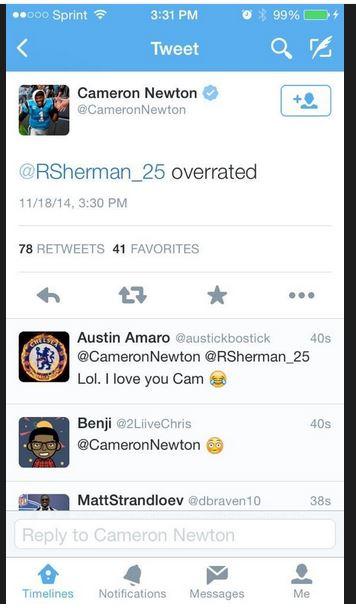 Cam Newton twitter hack 4