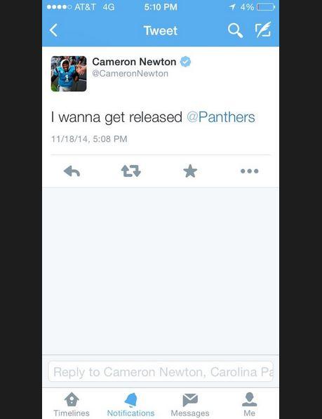 Cam Newton twitter hack
