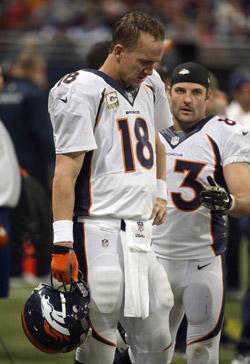 La tête des mauvais jours pour Peyton Manning.