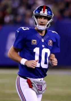 """Eli Manning a une fois de plus gratifié les fans de sa fameuse """"Manning Face"""" des mauvais soirs."""