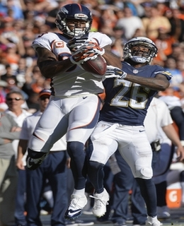 Deymarius Thomas, auteur du seul touchdown de la soirée côté Broncos