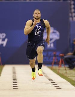 Jake Fisher a démontré toutes ses qualités athlétiques