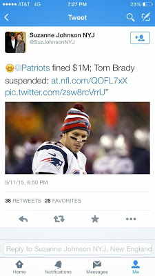 woody johnson wife tom brady deflategate tweet