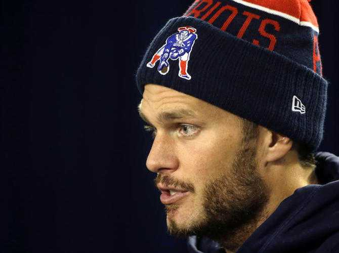 New England Patriots quarterback Tom Brady speaks with reporters during a news conference before an NFL football practice, Wednesday, Oct. 21, 2015, in Foxborough, Mass. The New York Jets are to play the Patriots Sunday, Oct. 25 in Foxborough. (AP Photo/Steven Senne)