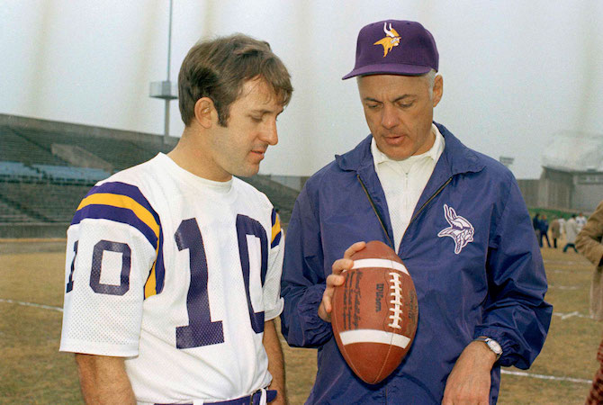 Fran Tarkenton and Coach Bud Grant