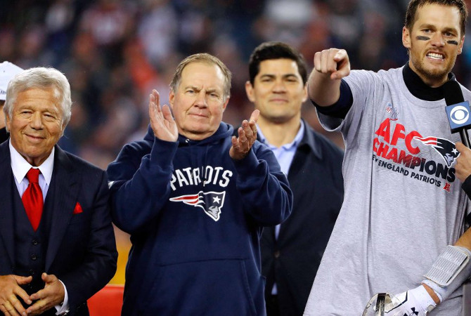 Robert Kraft Bill Belichick Tom Brady
