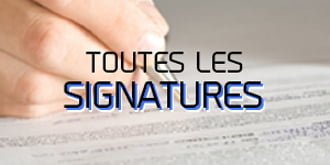 Signatures Free agency
