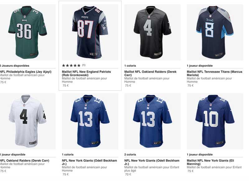 6226d7ba7a10f promo] -20% sur l'achat de trois produits Nike, y compris la NFL ...